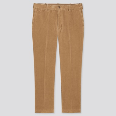 Men Smart Corduroy Ankle Length Trousers