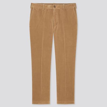 Men Smart Corduroy Ankle Length Trousers