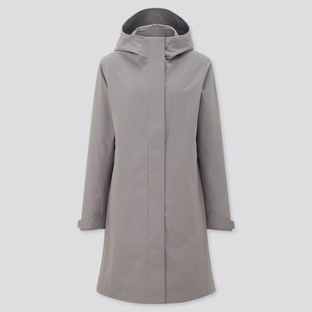 Damen BLOCKTECH Mantel mit Kapuze