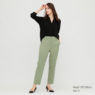 Women Smart Comfort Ankle Length Trousers