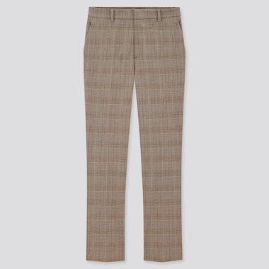 Women Smart Checked Ankle Length Trousers (Long)