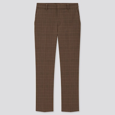 Women Smart Checked Ankle Length Trousers
