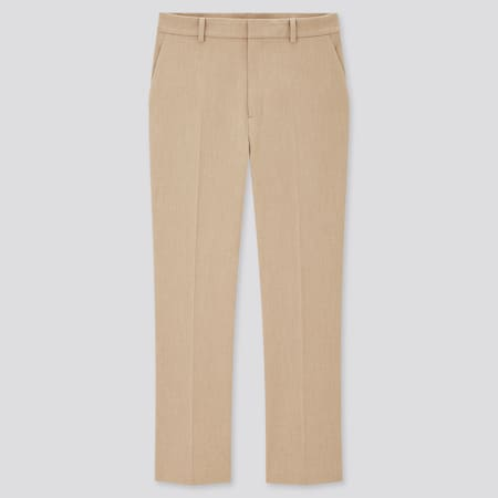 Women Smart Stretch Brushed Ankle Length Trousers