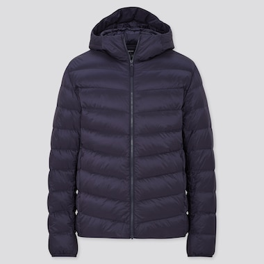 Men Ultra Light Down Hooded Parka