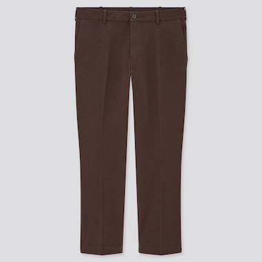 Men Smart Cotton Ankle Length Trousers