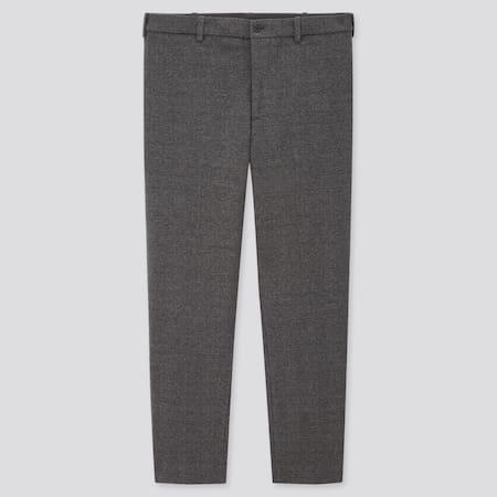 Men Smart Jersey Ankle Length Trousers