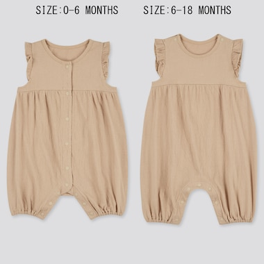 Babies Newborn Frill Sleeveless One Piece Outfit