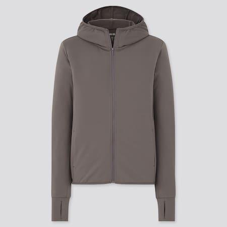 Damen AIRism Mesh Sweatjacke mit Kapuze und UV-Schutz