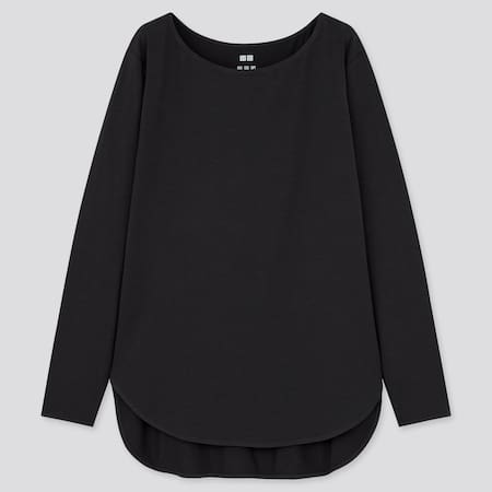 Women AIRism Seamless Longline Long Sleeved T-Shirt