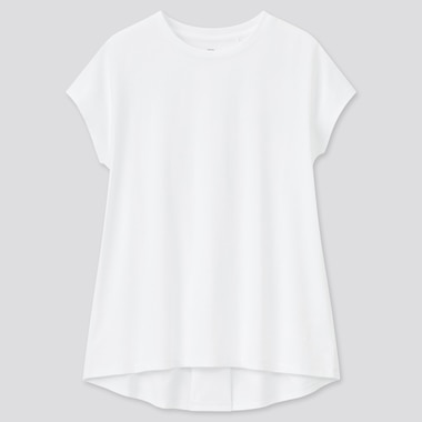 Girls AIRism Cotton Crew Neck Short Sleeved Tunic