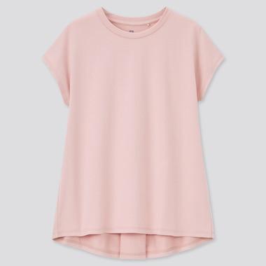 Girls AIRism Cotton Crew Neck Short Sleeved Tunic