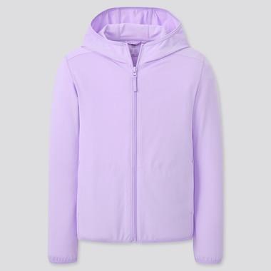 Kinder AIRism Sweatshirt mit Kapuze und UV-Schutz