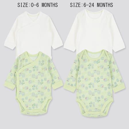 Babies Newborn Joy of Print Long Sleeved Bodysuit (Two Pack)