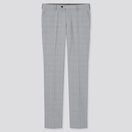 MEN Ultra Light Glen Checked Trousers