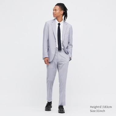 Men Seersucker Ultra Light Trousers