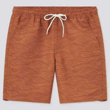 Pantaloncini Costume Da Bagno Sportivi Con Stampa Uomo