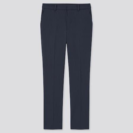 Damen Gestreifte Smart Komfort Stoffhose in 7/8-Länge
