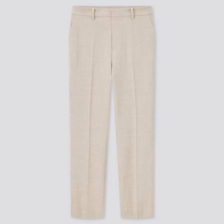 Damen Karierte Smart Komfort Stoffhose in 7/8-Länge