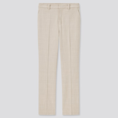 Pantalon Smart Confort 7/8ème Stretch à Carreaux Femme (Long)