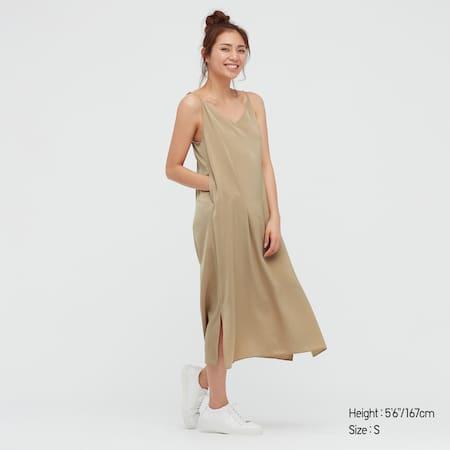 Women Camisole Side Slit Long Dress