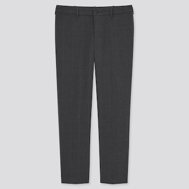 Men Smart Comfort Checked Ankle Length Trousers