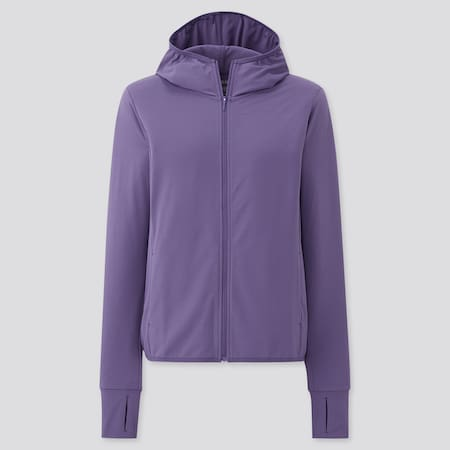 Women AIRism Mesh UV Protection Zipped Hoodie