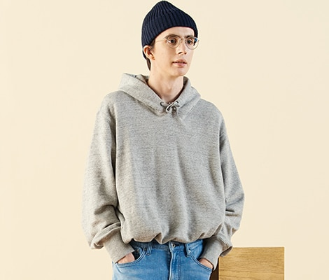 FLEECE LINED SWEAT ZIPPED HOODIE