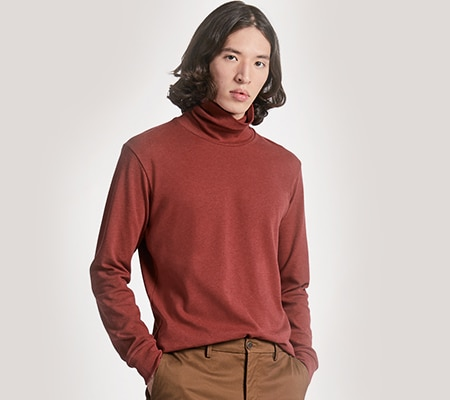 SOFT TOUCH TURTLENECK LONG SLEEVED T-SHIRT