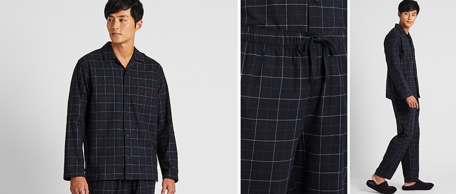 FLANNEL CHECKED LONG SLEEVED PYJAMAS