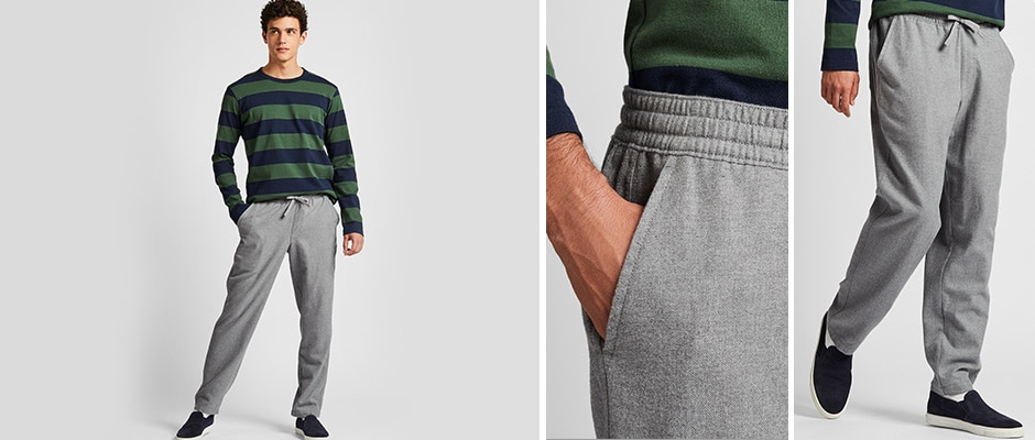FLANNEL EASY TROUSERS