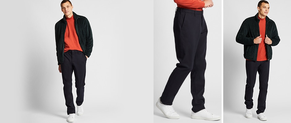 WINDPROOF STRETCH SLIM FIT CHINO TROUSERS
