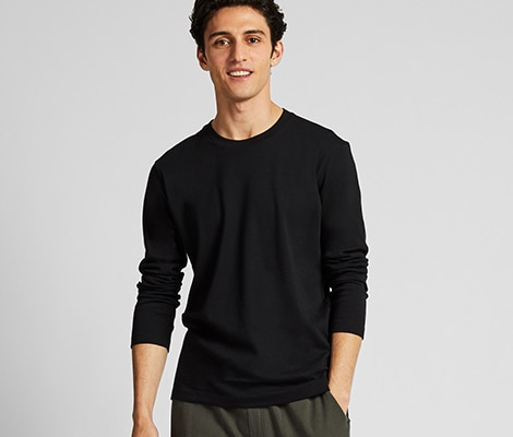 b48bf8c3 Men's T-Shirts : V Neck, Crew Neck, Long Sleeved & More | UNIQLO