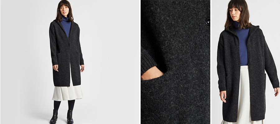 timeless design 8a846 59ac3 Giubbotti & Cappotti di lana Donna | UNIQLO