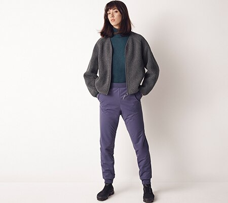 FLEECE LINED STRETCH TROUSERS