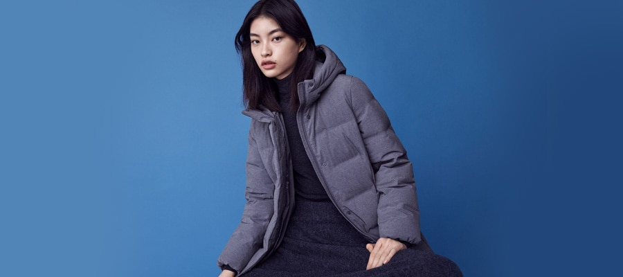 Manteau long gris fonce
