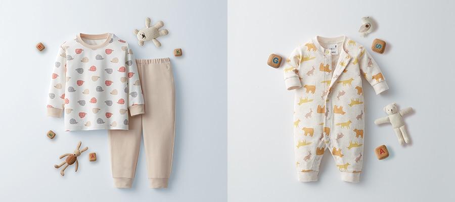 baby pyjamas and socks