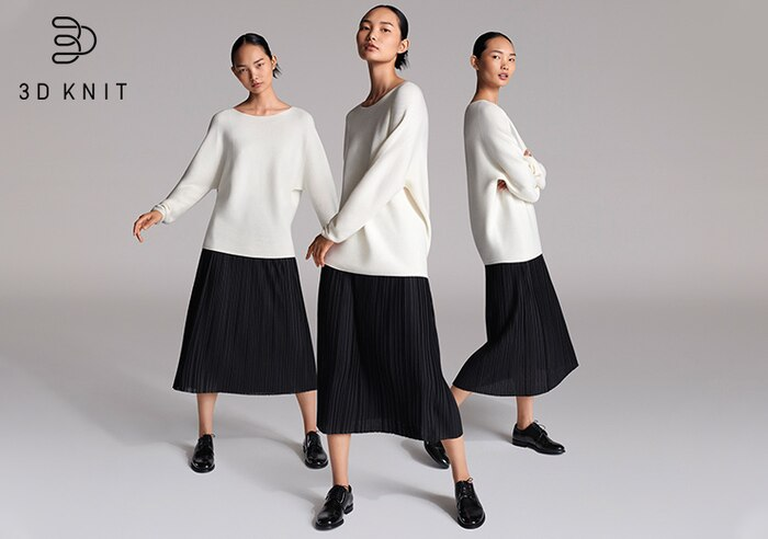 A NEW DIMENSION IN KNITWEAR