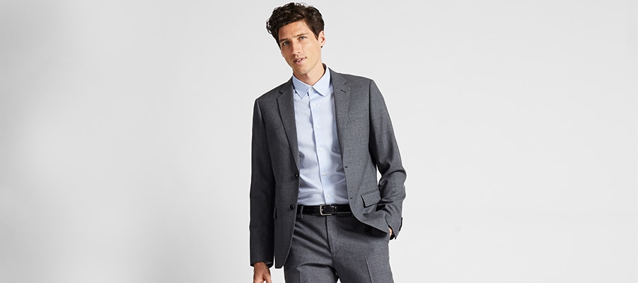 Stretch Wool Suit Blazer and Trousers