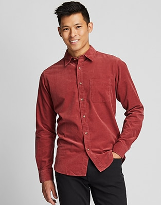 CORDUROY REGULAR FIT SHIRT (REGULAR COLLAR)