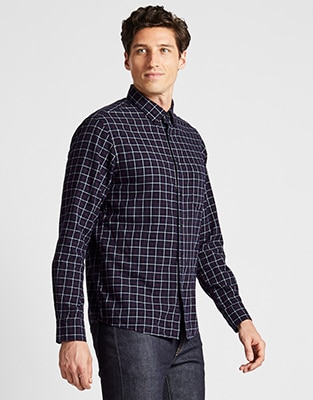 FLANNEL REGULAR FIT CHECKED SHIRT