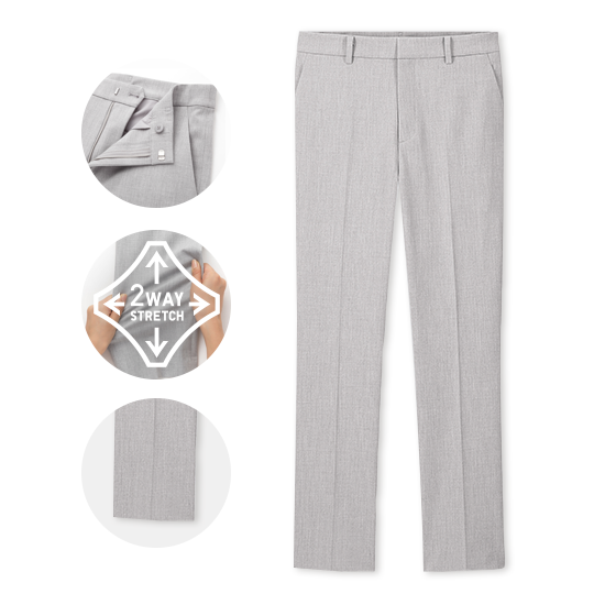 EZY TWO-WAY STRETCH ANKLE LENGTH TROUSERS