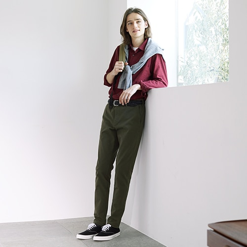 Two-Way Stretch Skinny Fit Chino Trousers