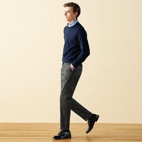 Pantalon en Coton Stretch Chino Coupe Slim