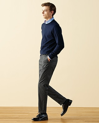 COTTON STRETCH SLIM FIT CHINO TROUSERS
