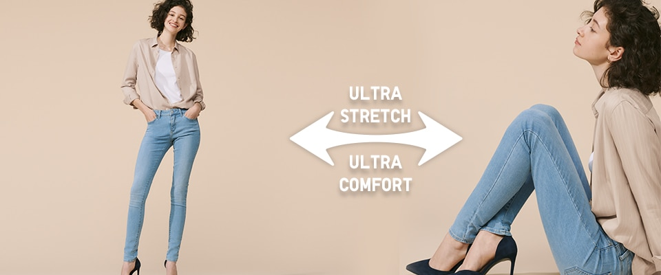 ULTRA STRETCH MID RISE JEANS
