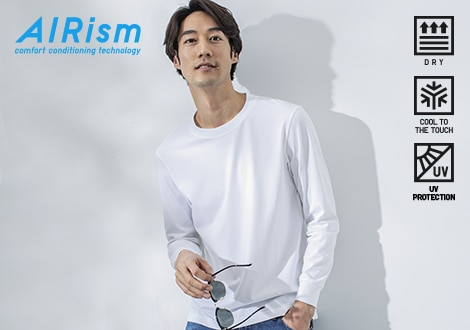 AIRISM UV PROTECTION LONG SLEEVED T-SHIRT