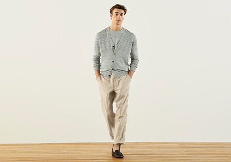 LINEN BLEND RELAXED FIT TROUSERS