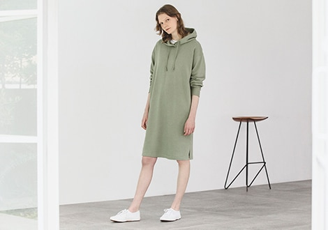SWEAT HOODIE DRESS