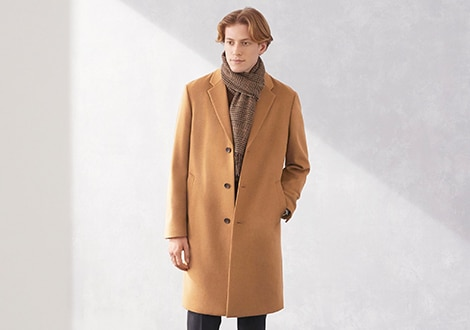 WOOL CASHMERE BLEND CHESTERFIELD COAT