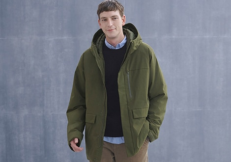 HYBRID DOWN HOODED PARKA